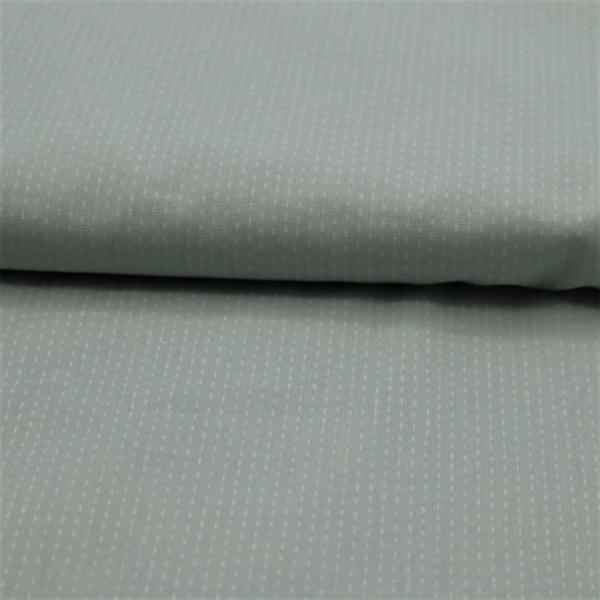 Bavlnená látka Biele čiarky na bledo zelenej 150cm