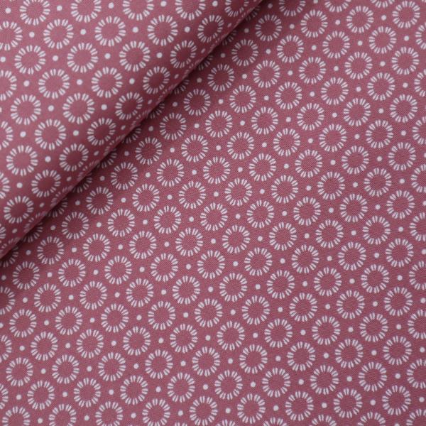 Bavlnená látka-Popelín Broken Cirkles Pink