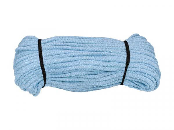 Bavlnená šnúra bledomodrá 5mm