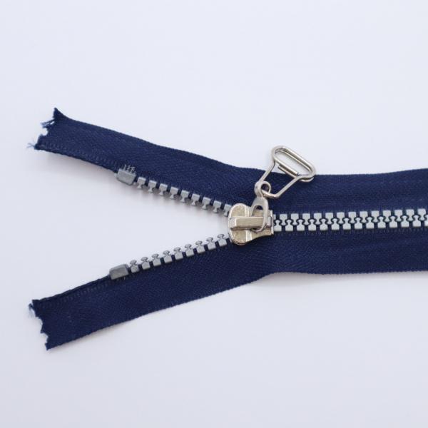 Zips tm. modrý kosticový deliteľný 5mm, dĺžka 70cm